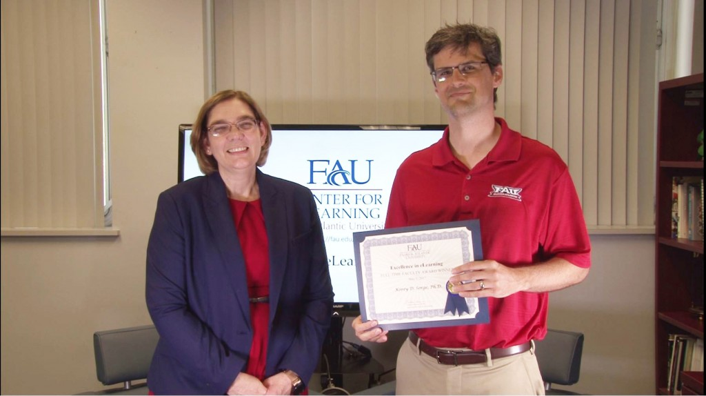 Excellence in eLearning Full-Time Faculty: Dr. Korey Sorge, College of Science, Physics