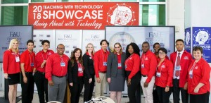 The Center for eLearning team pose for a photo at the Teaching with Technology Showcase