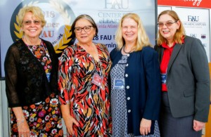 Dr. Victoria Brown and 2018 eLearning Award winners, Dr. Mary Kay Boyd, Dr. Janice Cerveny, and Dr. Mary Cameron.