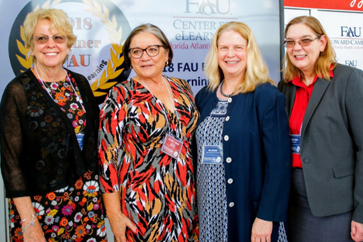 2016 & 2017 eLearning Award Winners, Dr. Korey Sorge, Dr. Kalisha Waldon, and Dr. Michelle Vaughan joined Dr. Victoria Brown as FAU Panelists at the 2017 Florida Distance Learning Association Conference.