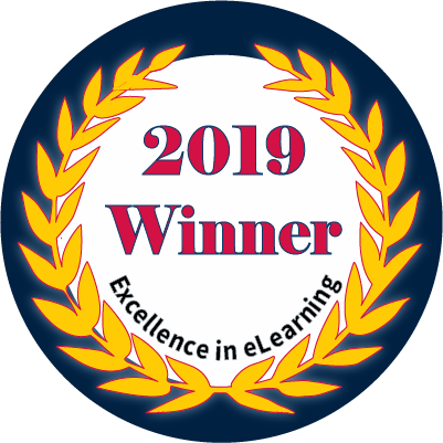 2019 Excellence in eLearning Winner Badge