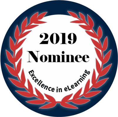 2019 Excellence in eLearning Nomination Badge