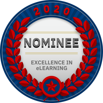 2020 Excellence in eLearning Nomination Badge