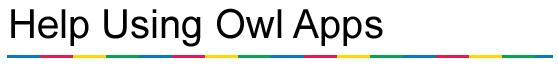 Owl Apps Help