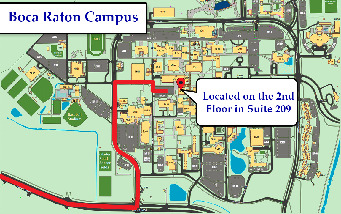 Fau Campus Map Hours and Locations – Faculty site – Center for eLearning  Fau Campus Map